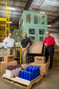 the 3 of Owners of Currier Plastics with products