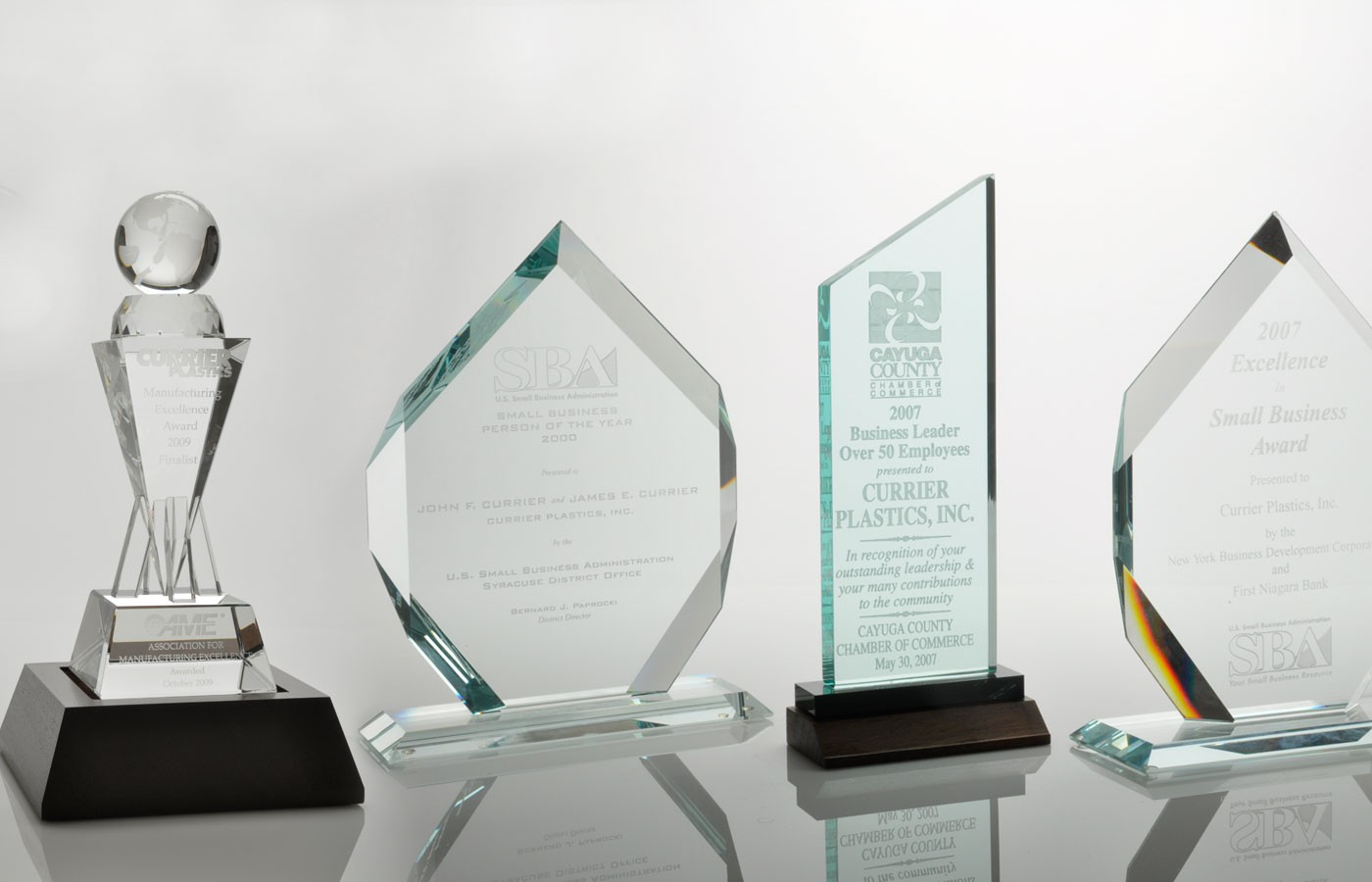 Business performance award trophies
